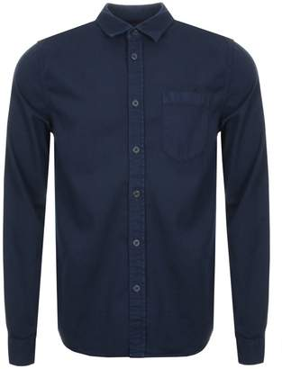Nudie Jeans Long Sleeved Henry Shirt Navy