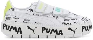 Puma low top leather trainers