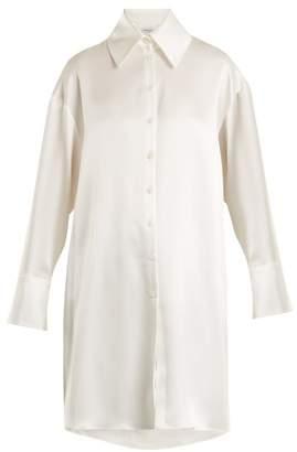 Osman Quinn oversized satin shirt