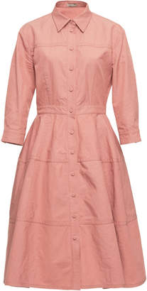 Bottega Veneta Collared Cotton-Blend Shirt Dress