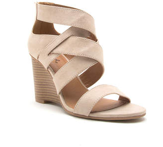 a022df27f664 Qupid Womens Brody-11 Wedge Sandals