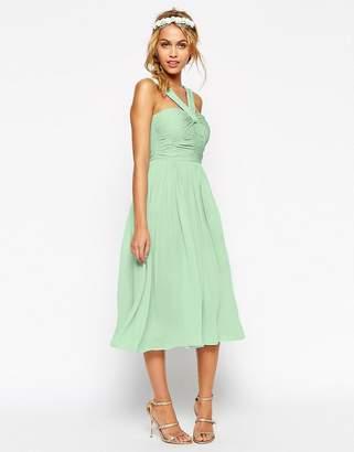 Asos Design DESIGN Bridesmaid midi dress with halter neck detail