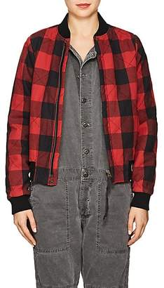NSF Women's Neil Checked Flannel Bomber Jacket Size S