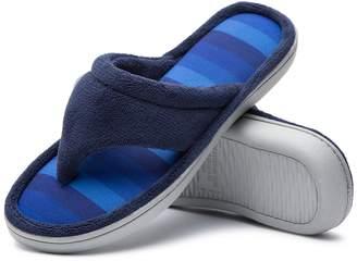 5332bbb663e Cozy Niche Women s Microfiber Gradational Color Knit Thong Slippers