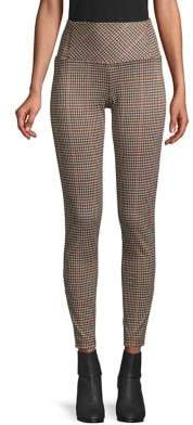 Design Lab Plaid High-Rise Leggings