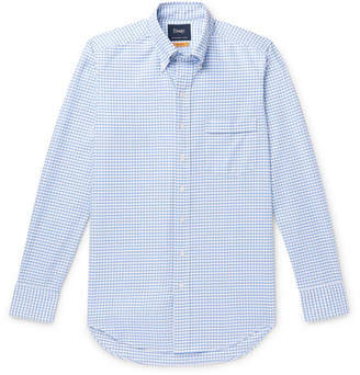 Drakes Drake's Easyday Slim-Fit Button-Down Collar Checked Cotton Oxford Shirt