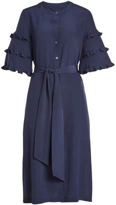 Vanessa Seward Silk Dress with Ruffles