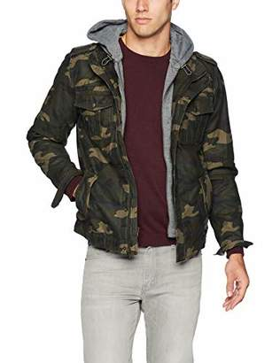 Levi's Washed Cotton Hooded Military Jacket