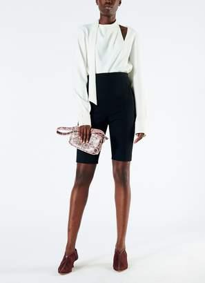 Tibi Anson Stretch High Waisted Biker Shorts