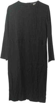 Les Prairies de Paris Black Silk Dress for Women