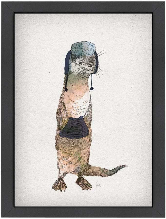 Americanflat Otter by David Fleck (Framed Giclee)