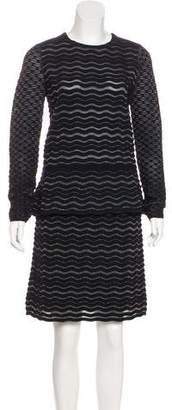 Tory Burch Metallic Wool Skirt Set