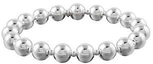 UltraFine Silver Large Bead Bracelet with Magnetic Clasp
