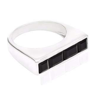Ring Black Neola - Equilibrium Sterling Silver Onyx