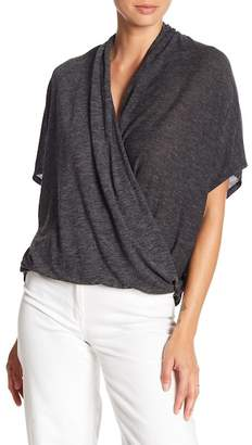 David Lerner Short Sleeve Wrap Blouse