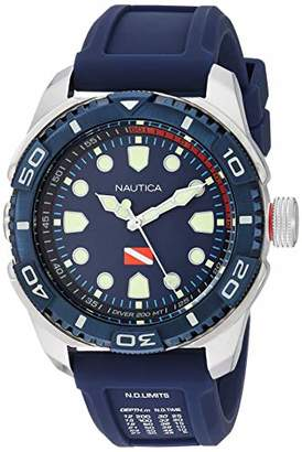 Nautica Men's NAPTDS902 Tarpoon Dive Silicone Strap Watch