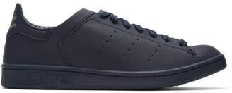 adidas Navy Stan Smith Lea Sock Sneakers