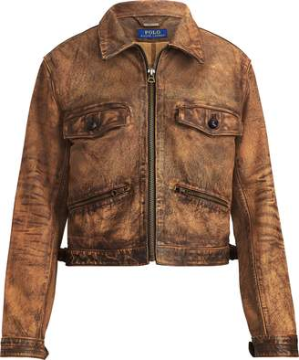 Ralph Lauren Sheepskin Zip Jacket