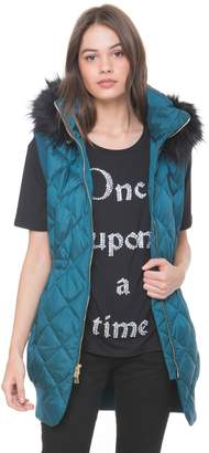 Juicy Couture Faux Fur Hood Puffer Vest