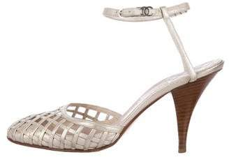 Chanel Woven Leather Pumps