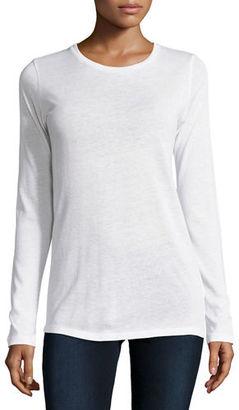 Majestic Paris for Neiman Marcus Cotton/Cashmere Long-Sleeve Crewneck Pullover $150 thestylecure.com