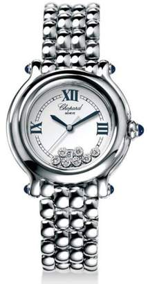 Chopard Women's 27/8236-23 Happy Sport Diamond White Dial Watch