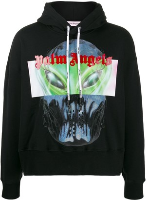Palm Angels alien print hoodie
