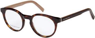 Ermenegildo Zegna EZ5024 Tortoiseshell-Look & Tan Round Optical Frames