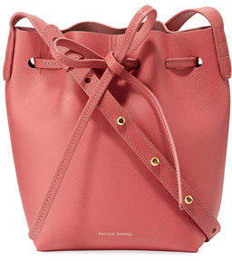 Mansur Gavriel Mini Mini Saffiano Leather Bucket Bag