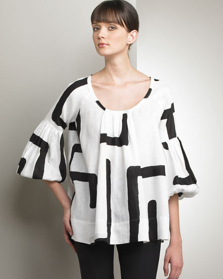 Piazza Sempione Graphic Tunic Blouse