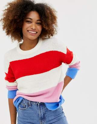 Brave Soul ahoy wide stripe sweater
