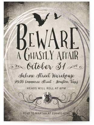 A Ghastly Affair Holiday Party Invitations