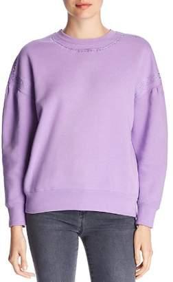 Scotch & Soda Embroidered Blouson-Sleeve Sweatshirt