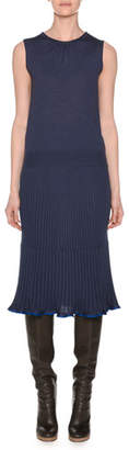 Agnona Sleeveless Crewneck Knit Pullover Top