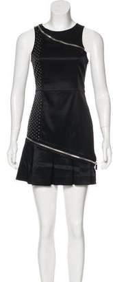 Thomas Wylde Studded Pleated Dress