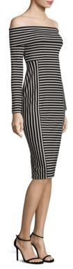 Derek Lam 10 Crosby Striped Off-The-Shoulder Midi Dress $375 thestylecure.com