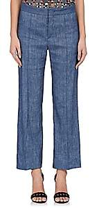 Etoile Isabel Marant Women's Oxy Linen-Blend Flared Pants - Blue