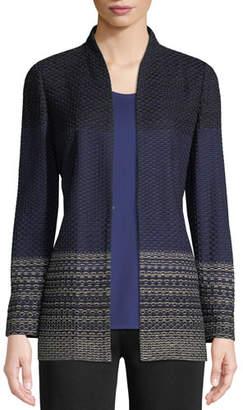 Misook Honeycomb Textured Jacket
