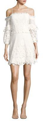 Parker Irma Lace Off-The-Shoulder Dress $228 thestylecure.com