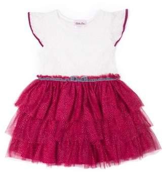 Little Lass Lace and Glitter Tulle Dress (Little Girls)