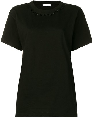 P.A.R.O.S.H. embellished collar T-shirt