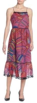 Catherine Malandrino Gillie Printed Midi Dress