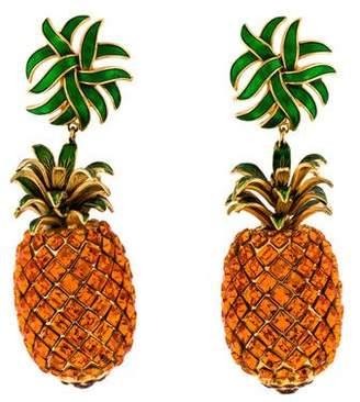 Dolce & Gabbana Pineapple Drop Earrings