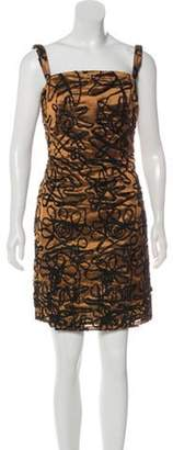 Christian Lacroix Embroidered Cocktail Dress brown Embroidered Cocktail Dress