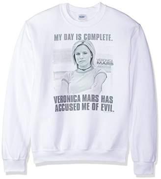Gildan Veronica Mars/Complete Day - Adult Crewneck Sweatshirt - White - Md