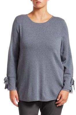 Nic+Zoe Plus Essence Tie-Sleeve Top