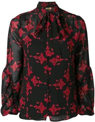 Liu Jo jewel print bow tie blouse