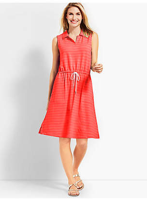 Talbots Mini Terry Drawstring Dress
