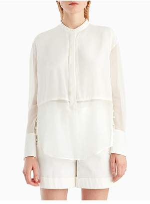 Jason Wu Grey By Silk Voile Button Down Blouse