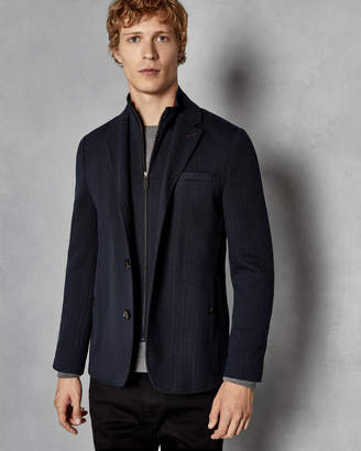 Ted Baker TOASTIE 2-in-1 Herringbone jersey jacket